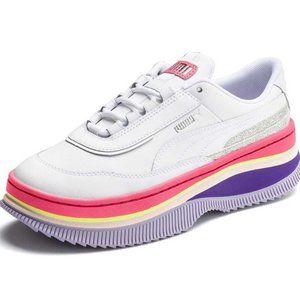 PUMA Deva '90s Pop Sneakers In White & Bubblegum